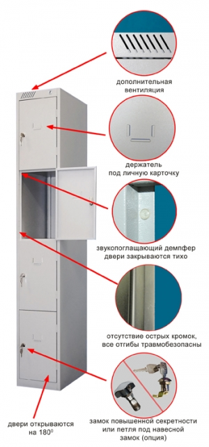 Шкаф металлический для сумок ШРС-14-300 купить на выгодных условиях в Барнауле